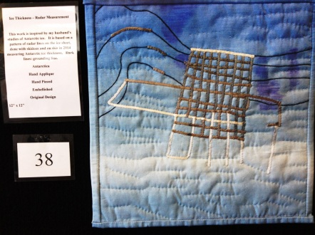 My quilt with a radar image from the last field campaign in 2014